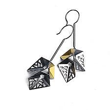 Origami Earrings #8 by Sophia Hu (Gold & Silver Earrings)