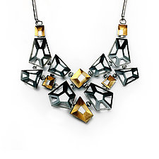 Origami Necklace #5 by Sophia Hu (Gold & Silver Necklace)