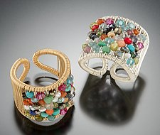 Rainbow Circular Stone Ring by Tana Acton (Gold, Silver & Stone Ring)