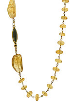 Multiple Citrine Necklace by Lori Kaplan (Gold & Stone Necklace)