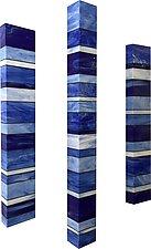 Sky Totems by Gerald Davidson (Art Glass Wall Sculpture)