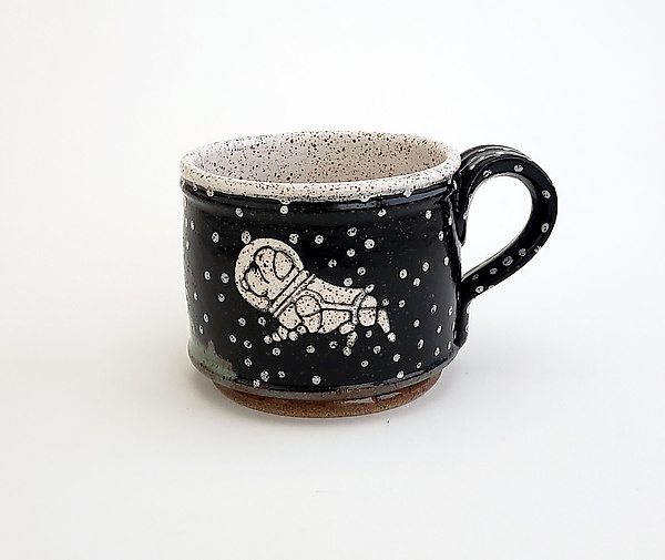 Astronaut Dog Short Mug