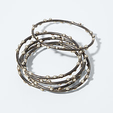 Silver on Steel Bracelets by Megan Auman (Silver & Steel Bracelets)