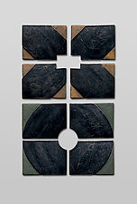 Small X + O by Nell Devitt (Ceramic Wall Sculpture)