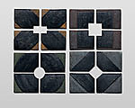 Small Series  X + O + Square + Diamond by Nell Devitt (Ceramic Wall Art)