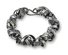 Wrapped Ribbon Bracelet by Rina S. Young (Silver Bracelet)