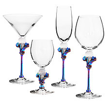 Kahuna Goblets by Minh Martin (Art Glass Drinkware)