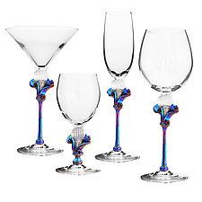 Kahuna Goblets by Minh Martin (Art Glass Drinkware)