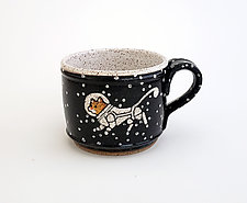 Astronaut Cat Short Mug by Ian Buchbinder (Ceramic Mug)