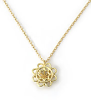 Doily Pendant Necklace by Jill Gower (Gold Necklace)