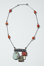 Collage Necklace by Ashka Dymel (Silver & Stone Necklace)