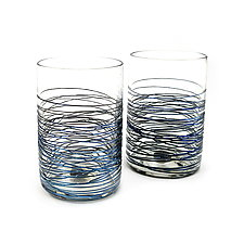 Meander Tumblers by Corey Silverman (Art Glass Drinkware)