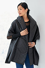 Quilted Hooded Shawl with Pockets by Susan Bradley (Quilted Shawl)