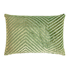 Chevron Velvet Lumbar Pillow by Kevin O'Brien (Silk Velvet Pillow)