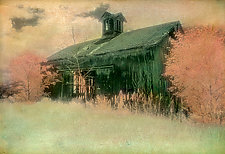 Abandoned Barn with Widow's Peak by Elizabeth Holmes (Hand-Colored Photograph)