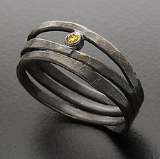 Oracle Ring with Yellow Diamond by Randi Chervitz (Silver & Stone Ring)