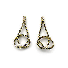 Knot Zipper Earrings by Kate Cusack (Gold & Silver Earrings)