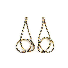 Long Knot Zipper Earrings by Kate Cusack (Gold Earrings)
