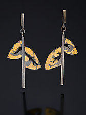 Winter Spirit Earrings by Marcia Meyers (Gold & Silver Earrings)