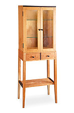 Tall Cherry Display Two Door Cabinet by Tom Dumke (Wood Cabinet)