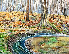 East Putney Brook by Judy Hawkins (Oil Painting)