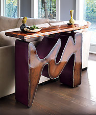 Sound Wave Console Table by Ben Gatski and Kate Gatski (Metal Console Table)