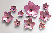 Nine Orchids by Amy Meya (Ceramic Wall Sculpture)