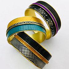 Duplex Bracelet by Louise Fischer Cozzi (Brass & Polymer Bracelet)