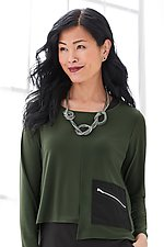 Liana Pocket Topper by Comfy USA (Knit Top)