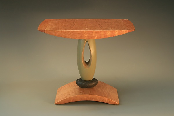 Green Teardrop End Table
