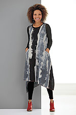 Handkerchief Hem Kantha Dress by Mieko Mintz  (Woven Dress)