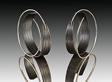 Loopy Hoops Earrings by Victoria Moore (Gold & Steel Earrings)