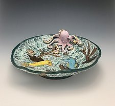 Seahorse Party by Lilia Venier (Ceramic Bowl)