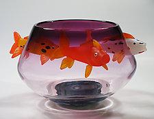 Koi Bowl by David Leppla (Art Glass Bowl)