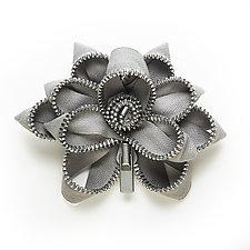 Gray Zipper Pin by Kate Cusack (Zippered Pin)