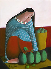 La Vendadora (The Vendor) by Armando  Adrian-Lopez (Giclée Print)