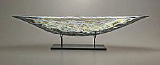 London Fog Boat by Nicholas Stelter (Art Glass Sculpture)