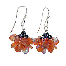 Orange Zest Earrings by Kathryn Bowman (Beaded Earrings)