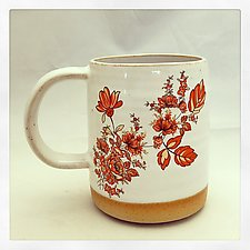 Bohemian Red and 24k Gold Mug by Chris Hudson and Shelly  Hail (Ceramic Cups & Mugs)