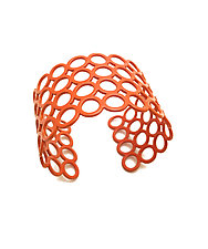 Multi Circle Cuff Bracelet by Melissa Stiles (Steel Bracelet)
