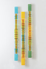 Rhythmic Bands II by Nina  Cambron (Art Glass Wall Sculpture)