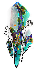 Sea Glass Cello by Karen Ehart (Art Glass Wall Sculpture)