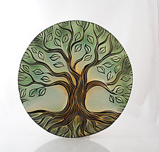 Tree of Life Disk by Natalie Blake (Ceramic Wall Sculpture)