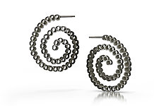 Sea Spiral Hoop Earrings by Thea Izzi (Silver Earrings)