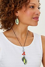 Wildflower Pendant by Lou Ann Townsend and Mary Filapek (Steel Necklace)