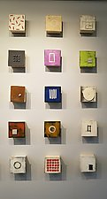 Fifteen, Group Two by Lori Katz (Ceramic Wall Sculpture)