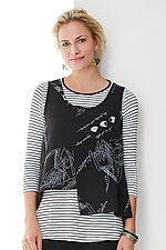 Camille Topper and Tee by Comfy USA (Knit Top)