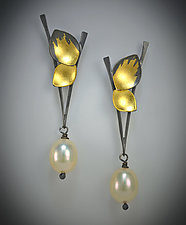 Dewdrop Earrings by Judith Neugebauer (Gold, Silver & Stone Earrings)