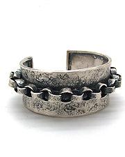Chain Cuff Bracelet by Lauren Passenti (Silver Bracelet)