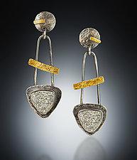 Mesa Earrings by Patricia McCleery (Gold, Silver & Stone Earrings)